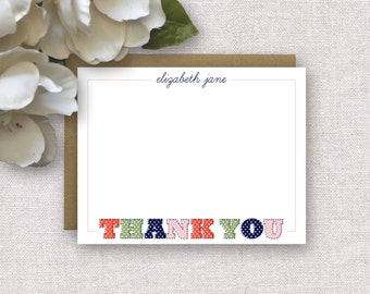 Personalized Stationery. Baby Girl Thank You Notes. Personalized Stationery Kids. Baby Thank You Card. Note Card. Personalized Stationary.