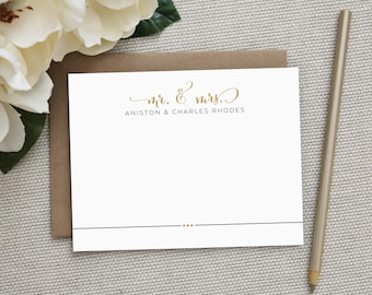 Wedding Thank You Cards. Wedding Thank You Notes. Personalized Stationery. Notecard. Personalized. Stationary. Note Card. Stationery. Billow