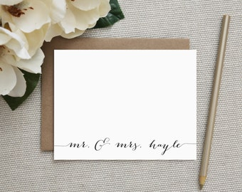 Wedding Thank You Notes. Wedding Thank You Cards. Personalized Stationery. Stationary. Note Cards. Personalized. Stationery. Classic Script.