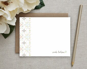Personalized Stationery. Personalized Notecard Set. Personalized Stationary. Note Cards. Personalized. Stationery. Sets. Ornamental Flower.