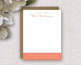 Personalized Stationery. Teacher Gift. Personalized Teacher Stationery. Gifts for Teachers. Stationary. Teacher Notecards.