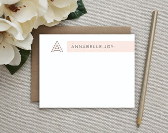 Personalized Stationery. Personalized Notecard Set. Personalized Stationary. Monogram / Monogrammed Stationery / Note Cards. Vogue.
