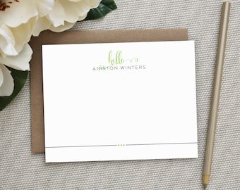 Personalized Stationery. Personalized Notecard Set. Personalized Stationary. Note Cards. Stationery. Wedding. Thank You Notes. Cards. Billow