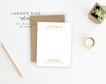 LARGER SIZE | From the Mom Of Notepad. Mom Of Notepad. Mom/Dad Notepad. Parent Notepad. Personalized Notepad. Personalized. Mom Stationery.