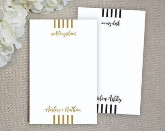 Personalized Notepad. Personalized Note Pad. Family Notepad. Couples. Personalized Stationery. Stationary. Gift. Custom. Office. Runway.