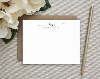 Personalized Stationery. Personalized Notecard Set. Personalized Stationary. Monogram / Monogrammed Stationery / Note Cards. Swash Monogram.