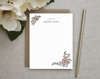 Personalized Stationery. Personalized Notecard Set. Personalized Stationary. Note Cards. Personalized. Stationery. Sets. Floral Bouquet.