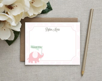 Personalized Thank You Cards for Kids. Personalized Stationery Kids. Little Girl / Baby Girl Thank You Notes. Personalized Stationary.