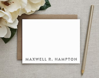 Personalized Stationery. Personalized Stationery for Men. Professional Stationery. Personalized Stationary. Note Cards. Notecards. Slice.