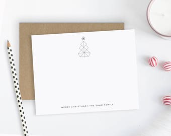Christmas Notecards. Holiday Note Cards. Personalized Christmas Stationery. Christmas Thank You Notes. Personalized Stationery. Modern Tree