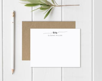 Personalized Stationary | Personalized Notecard Set | Personalized Stationery | Script Monogram | Monogrammed Stationery | Thank You Cards