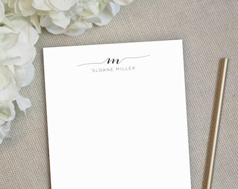 Personalized Notepad. Personalized Note Pad. Family Notepad. Monogram Notepad. Personalized Stationery. Stationary. Gift. Office. Swash.