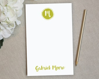 Personalized Notepad. Personalized Note Pad. Personalized Stationery. Stationary. Custom. Gift. Monogram Notepad. To Do List. Funky Circle.
