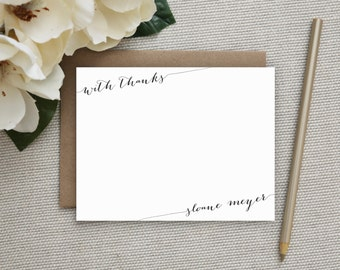 Personalized Stationery | Personalized Notecard Set | Personalized Stationary | Personalized Note Card | Stationary Set | With Thanks Script