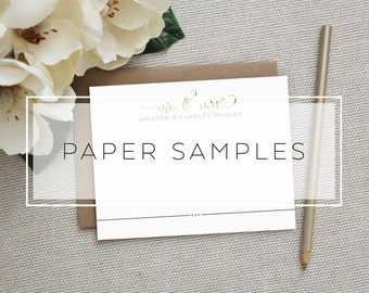 Paper Samples. Swoon Paper Co. Personalized Stationery + Invitations + Announcements.
