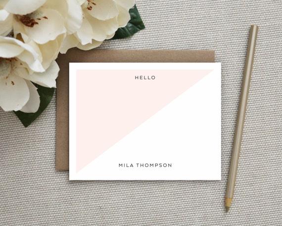 personalized stationery personalized notecard set etsy