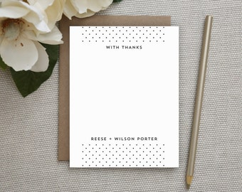 Wedding Thank You Cards. Wedding Thank You Notes. Personalized Stationery. Notecards. Stationary. Note Cards. Personalized. Waterfall Dots