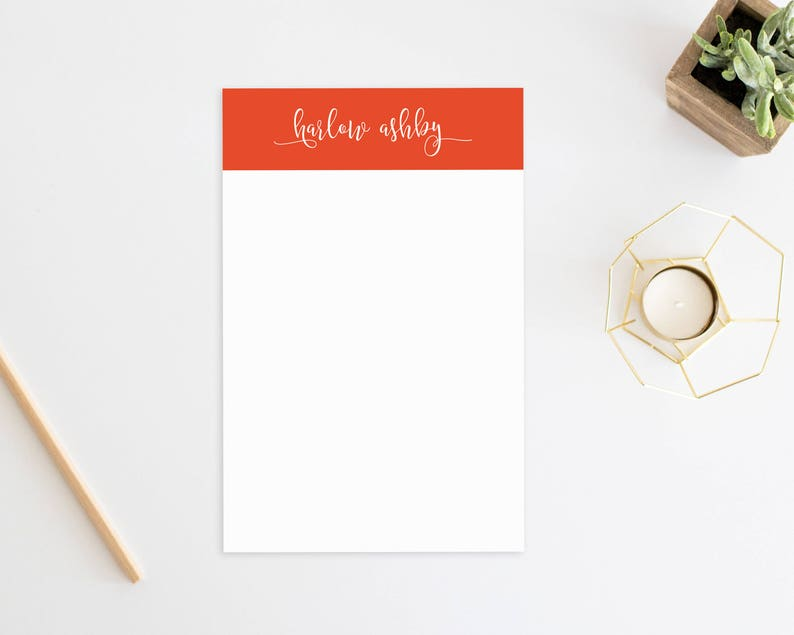 Custom Stationary Personalized Gift Minimal Posh. Office Personalized Note Pad Personalized Stationery Personalized Notepad Unique