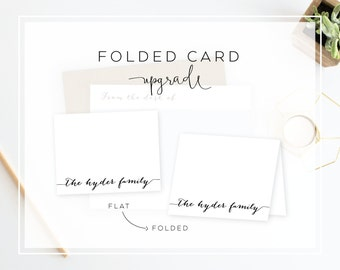 Folded Card Upgrade | Design of Your Choice