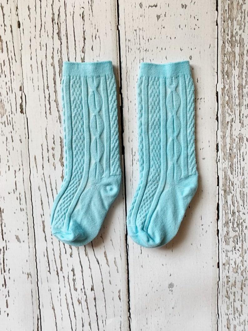 9bf90ce546a1 Baby knee socks toddler knee socks cable knit knee socks
