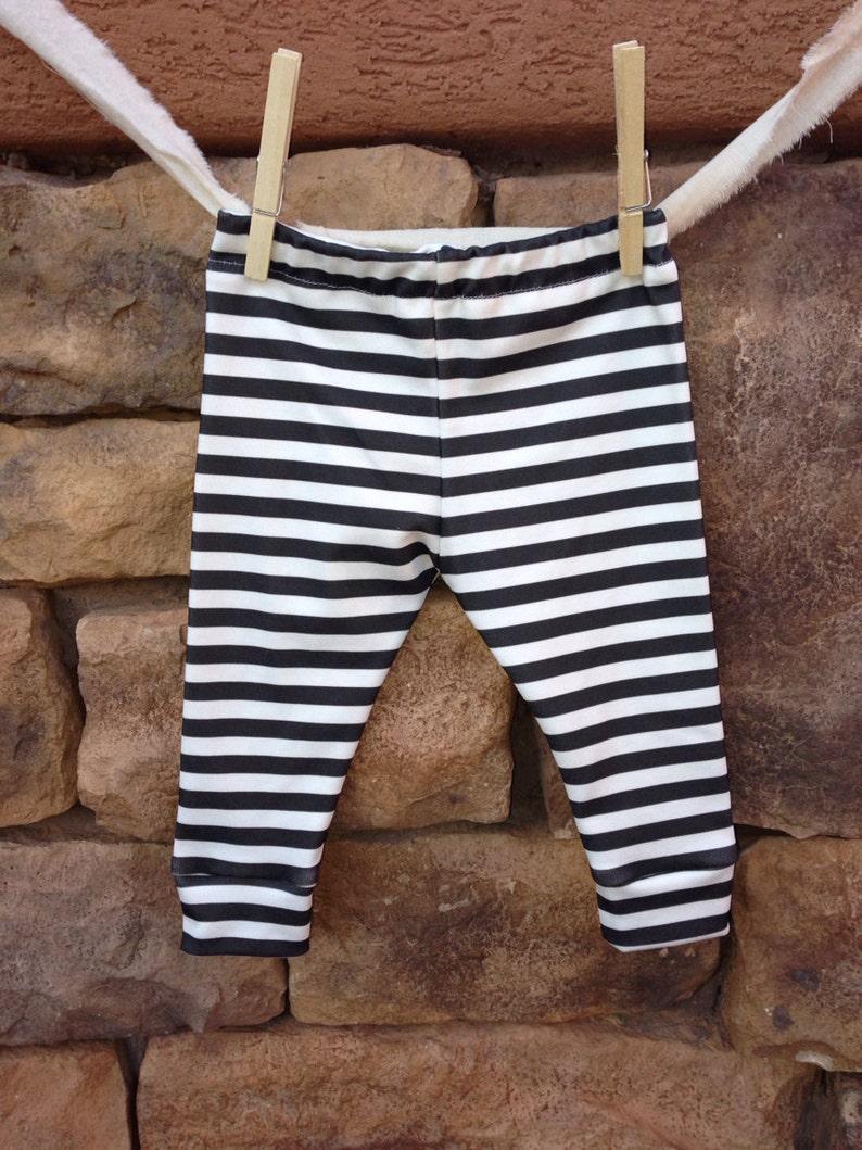 infant leggings baby girl leggings black and white stripe baby leggings organic baby leggings Baby leggings baby boy leggings