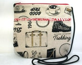 Small Crossbody One Of A Kind Travel Hiking Bags Purses Small Shoulder Bag Go Any Where Bag Hipster Handmade Fabric Bag