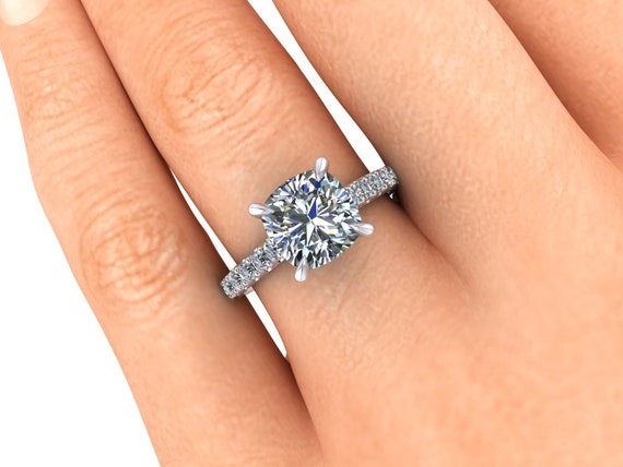c04b826558ac2 Moissanite Engagement Ring Moissanite and Lab Created Diamonds Ethical  Jewelry