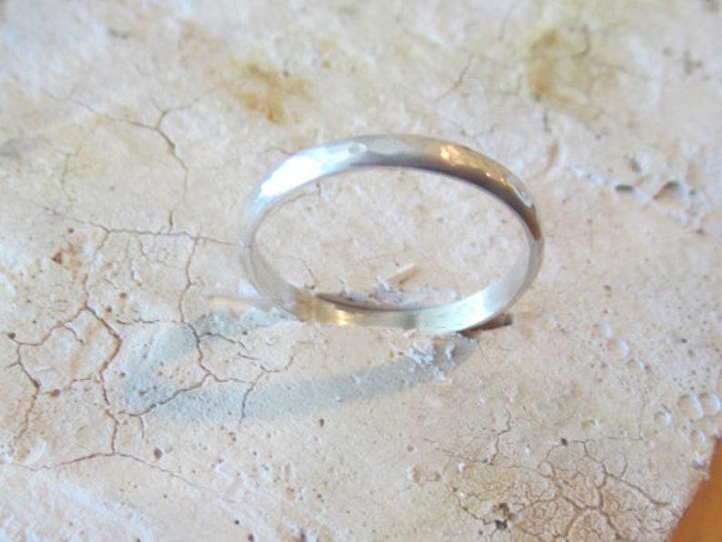 Silver Wedding Band Argentium Sterling Silver Half Round Band