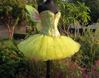 fd4f9400dd Adult Tinkerbell Halloween Costume SKIRT. Halloween Adult Costume Fairy  Costume Cosplay. A Beautiful Tinker Bell Lavishly Full Skirt.
