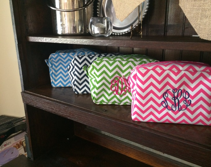 Chevron and Quatrefoil Cosmetic Bags