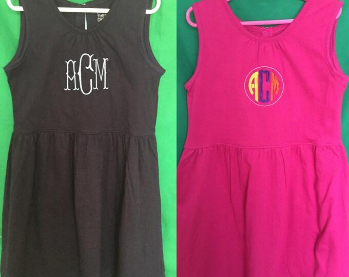 Cotton Summer Monogrammed Play Dress