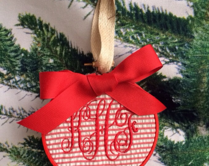 Monogrammed Christmas Ornaments or Gift Tags