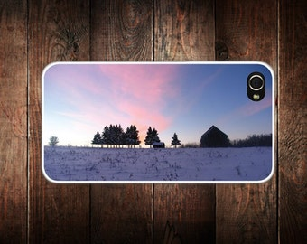 iphone 7, iphone 8, iphone xLandscape Winter Sunset iPhone 4 and 5 case - iPhone 4 case, iPhone 4s Case, iPhone 5 case, Cell phone case
