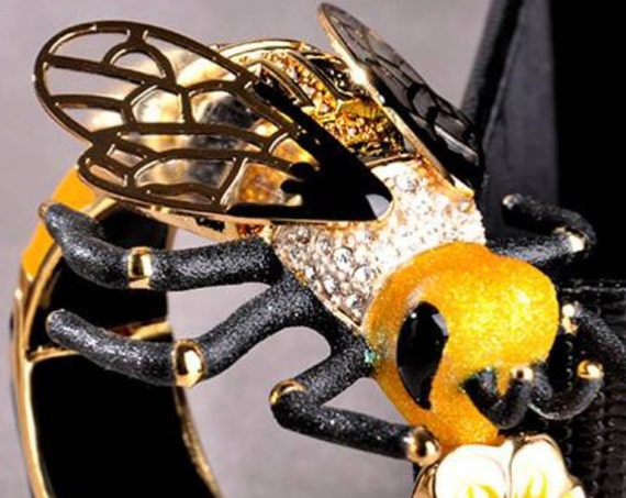 Most Likely a Rare Pasotti Italy Famous Designer Figural Enamel Over the Top Collectors Runway Statement Bracelet Wildest Coolest Ever!