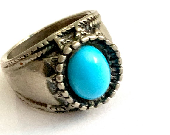 Vintage Chunky Southwestern inspired Bohemian Size 6.5 bling Ring