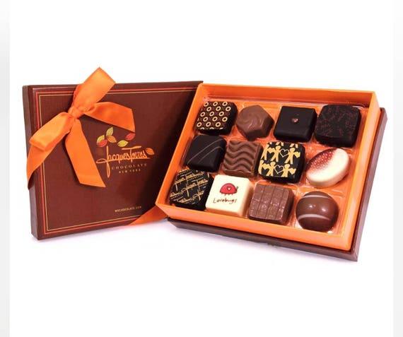 "Jacques Torres Gourmet Handmade ""Artisanal"" Gift Boxed Chocolates 3.3 oz"