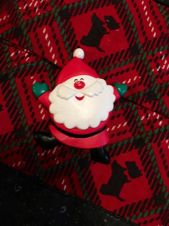 Vintage hallmark cards HMK CDS jolly jumping Santa ho ho ho pin