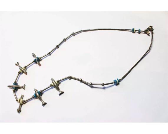 Vintage Southwestern Silvertone Fetish Necklace