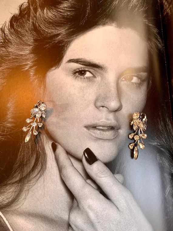 Branchy Ice Crystal Rhinestone Earrings