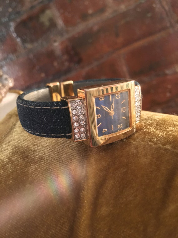 Joan Rivers Denim and Diamonds Glamour Jewelry Fashion Watch