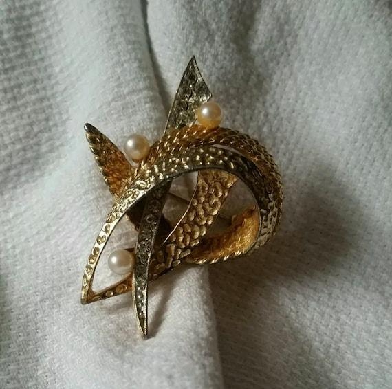 Vintage Oleg Cassini 1964 Atomic Unisex Lapel Pin, Trending High Fashion Designer Brooch