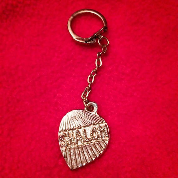 Vintage Cutty Gold Tone SHALOM Key Ring Chain
