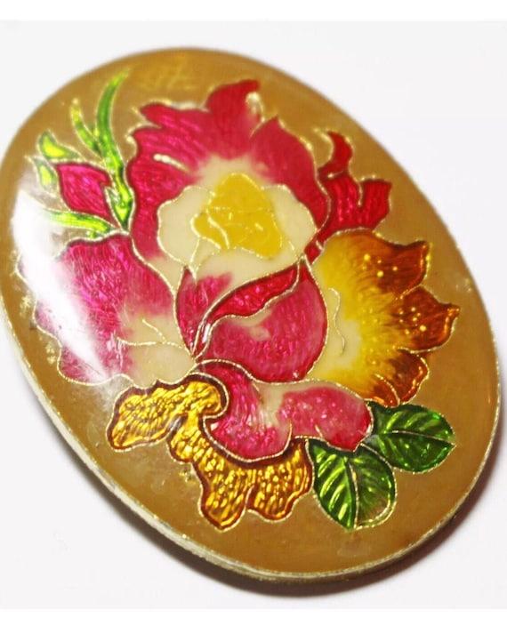 Pretty Vintage Floral Pin Brooch