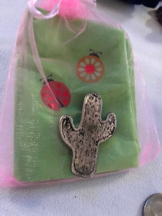 Bling Treat! 10 Dollar Bling goodie this one is a Super cute Little Silvertone Southwestern Cactus Pin Great treat gift