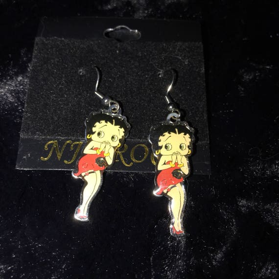 Betty Boop Flirty Pose Earrings-great stocking stuffer; )