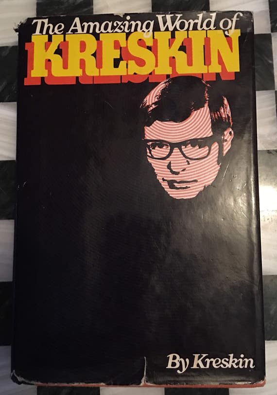 "1973 First Edition Autographed ""The Amazing World of Kreskin"" by Kreskin book about Physhic & Paranormal"
