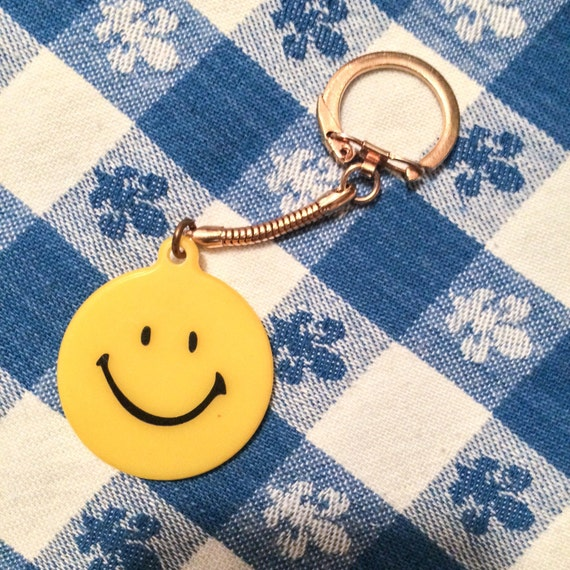 "Vintage Cutty Sark Happy Face Key  Ring chain - ""the only one of it's kind"" slogan"