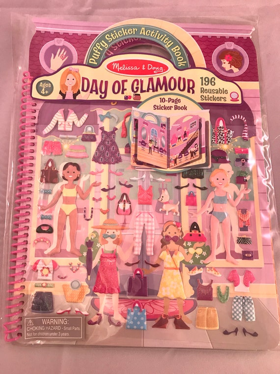 Melissa & Doug Days Of Glamour Reusable Sticker Paper Dolls