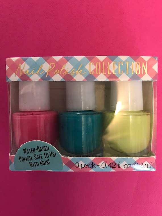 Fun! Trio package of mini non toxic nail polish