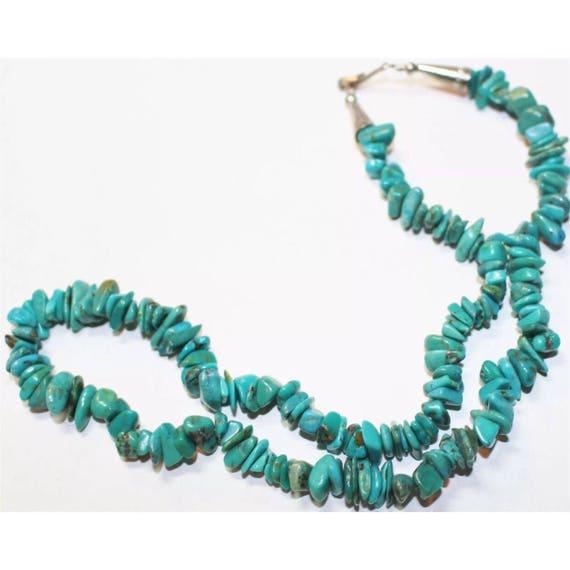Vintage Southwestern Turquoise Stone Beaded Necklace